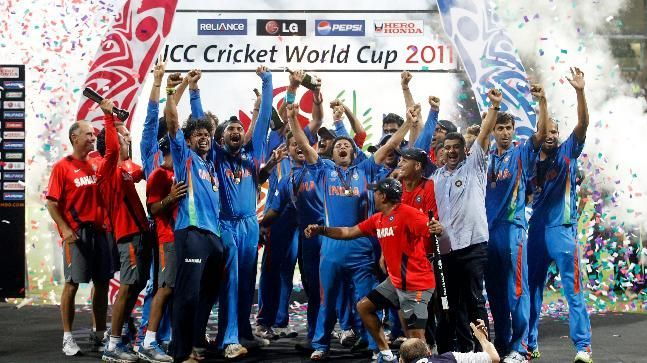 Image result for Indian WC triumph 2011