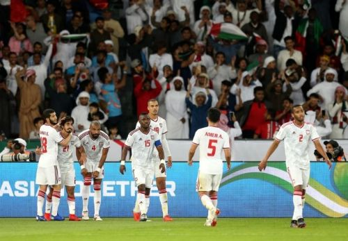 Two goals from Khalfan Mubarak & Ali Mabkhout helped the hosts in securing three valuable points (Courtesy: AFC Asian Cup official Twitter handle)