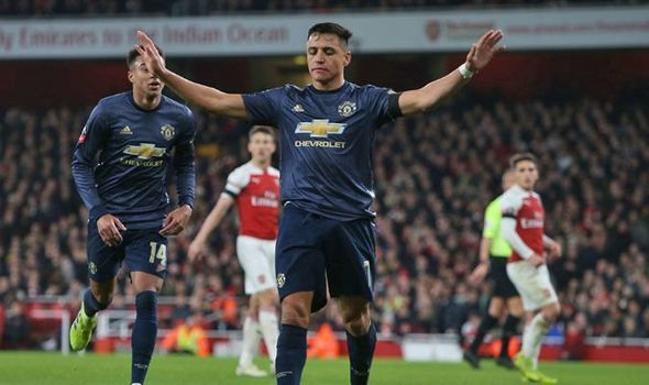 Sanchez opened the scoring for Manchester United