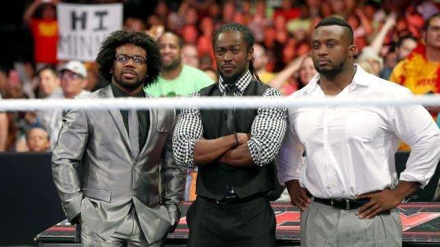 The New Day when they first appeared on WWE television as heels.