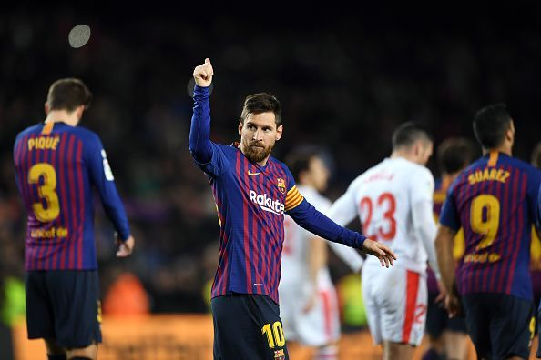Lionel Messi scored his 400th LaLiga goal as Barcelona defeated Eibar.