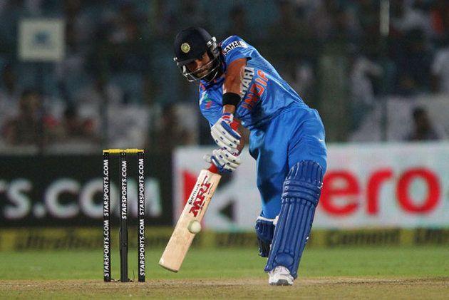 Kohli scored the fastest ODI hundred by an Indian off 52 balls at Jaipur