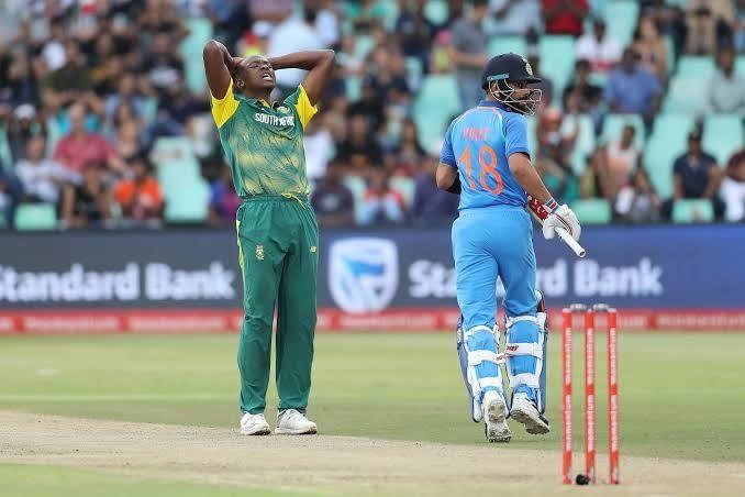 Rabada And Virat Kohli