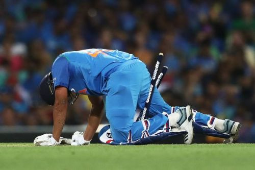 Rohit Sharma eventually lost the lone battle he was waging