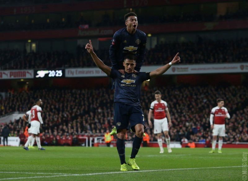 Manchester United beat Arsenal 3-1 in the FA Cup fourth round