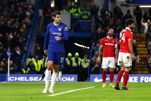 Morata has cut a frustrated figure at Stamford Bridge of late