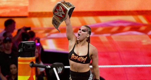 Ronda Rousey won the Raw Women's Championship at SummerSlam 2018