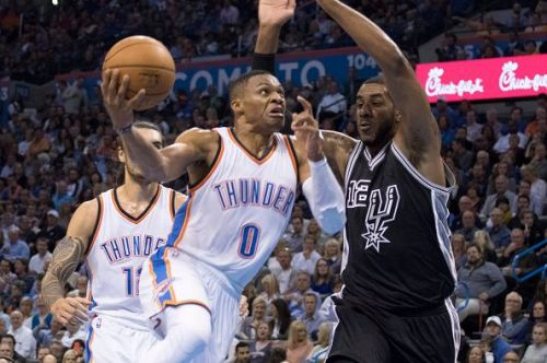 OKC will face the Spurs in a Western Conference mat