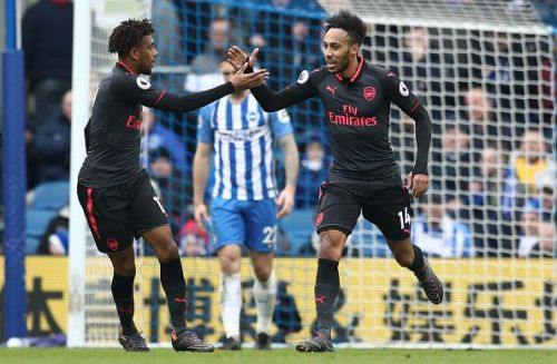 Iwobi and Aubameyang have been used as wingers this season by Emery