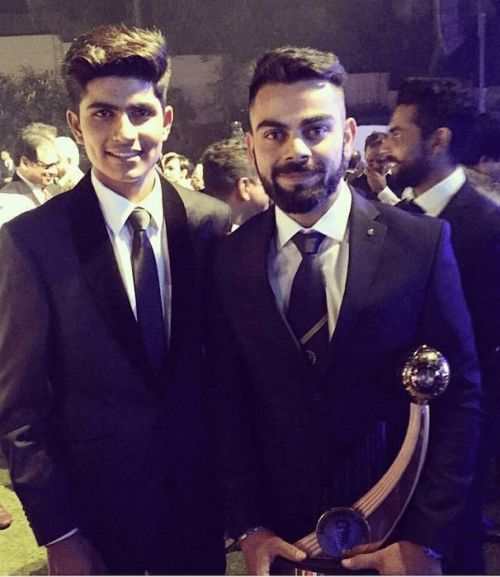 Shubman is a big fan of Indian captain Virat Kohli