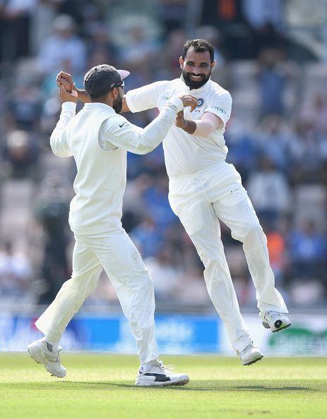 England v India 2019: Shami celebrates after a breakthrough