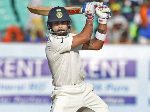 Kohli has played just 25 Test Series, and has already scored 500 runs or more in a test Series 4 times.