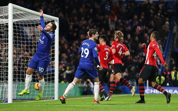 Eden Hazard and co couldn't breach a tricky Southampton backline at the Bridge yesterday
