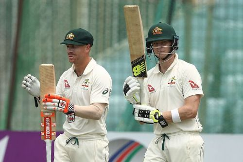 David Warner (L) and Steve Smith's absence was a big factor in India's series win