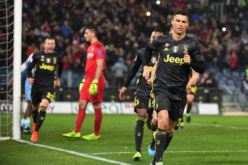 Ronaldo netted his eighth straight away goal in Serie A against Lazio