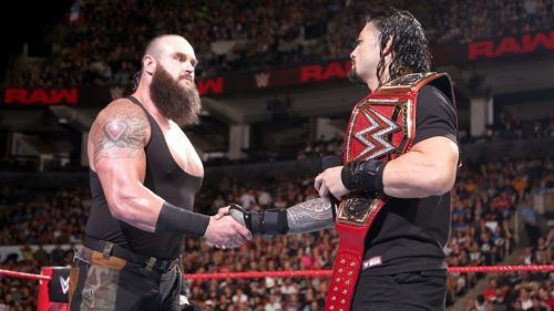 Roman Renigs with Strowman