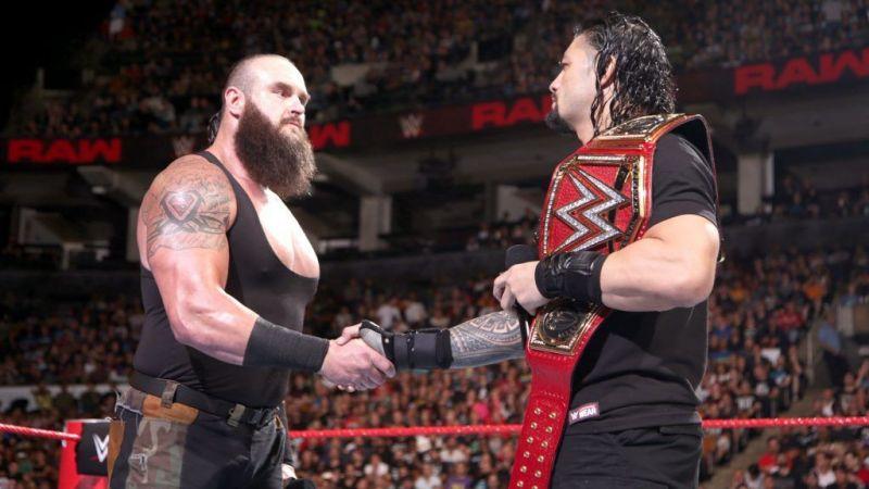 Roman Renigs with Strowman