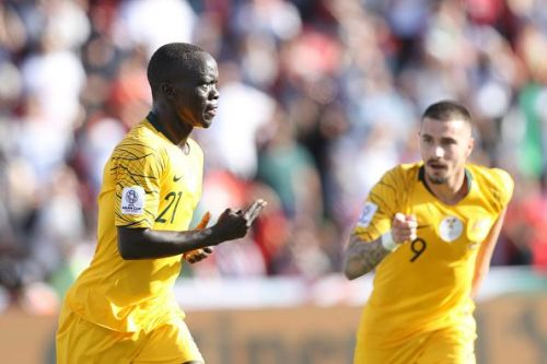 Australia's Awer Mabil looked lively from the first two games along with Jamie Maclaren