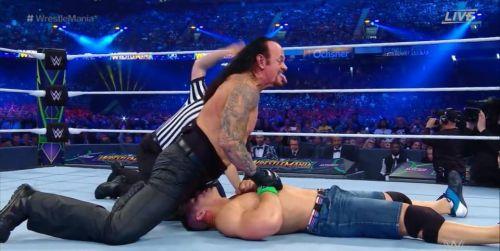 Undertaker and John Cena botched a huge spot at WrestleMania 34
