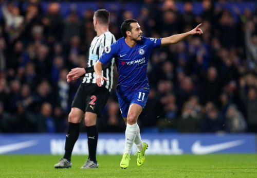 Pedro opened the scoring for the home side