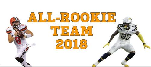 Who makes the 2018 NFL season's All-Rookie team?