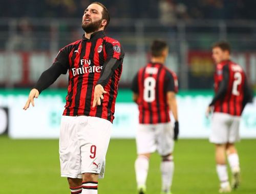 Higuain is currently on loan at AC Milan