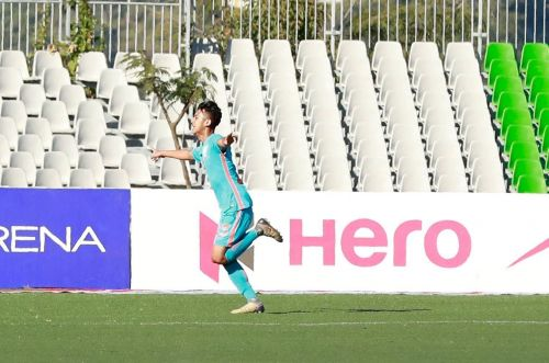 Rohit Danu got his name registered in the history books (Image Courtesy: I-League)