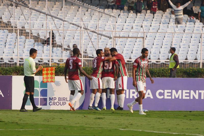 Mohun Bagan edged NEROCA FC out 1-0 on Saturday at Salt Lake Stadium