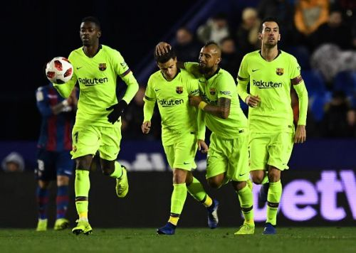 The Blaugrana will be hoping to overturn a 2-1 first leg defeat.