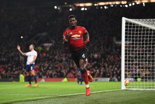 The team is now playing around Pogba