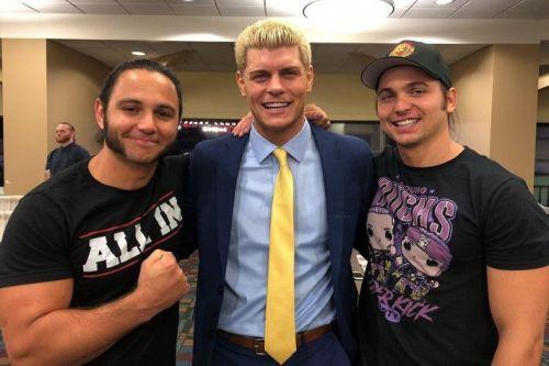The Young Bucks Matt and Nick Jackson and Cody Rhodes