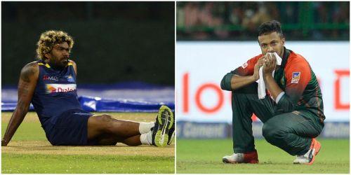 Sri Lanka skipper Lasith Malinga and Bangladesh captain Shakib Al Hasan