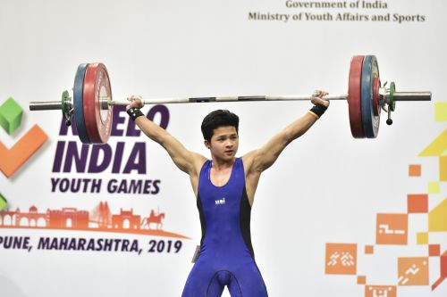 Jeremy Lalrinnunga at the Khelo India Youth Games