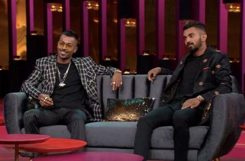 A screengrab of Pandya and Rahul from the show