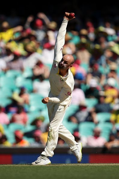 Lyon took 4 wickets but he had to toil for 57.2 overs