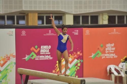 Bidisha Gayen (WB) in action at Khelo India Youth Games
