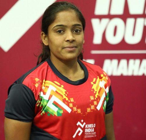 Sonali Helvi, Maharashtra Girls U21 Kabaddi Captain at Khelo India Youth Games