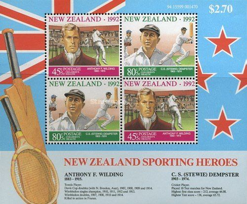 STAMP OF NEW ZEALAND ON ANTHONY WILDING
