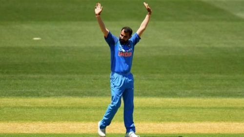 Mohammed Shami becomes the quickest Indian bowler to reach 100 ODI wickets.