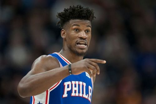 Jimmy Butler only joined the Philadelphia 76ers towards the end of 2018