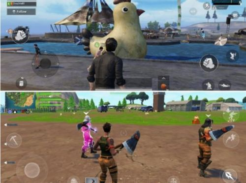 Graphics of PUBG and Fortnite
