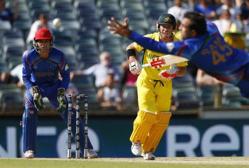 David Warner led the charge with a 178-run knock to rout Afghanistan