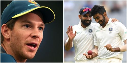 Tim Paine has extolled the highest praise on the Indian bowlers