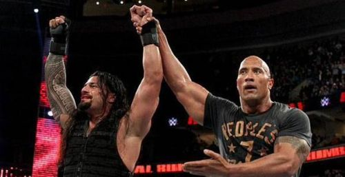 Reigns and the Rock were booed heavily in Philly that night