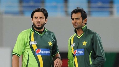 Two Spin bowling all-rounders - Afridi and Shoaib Malik