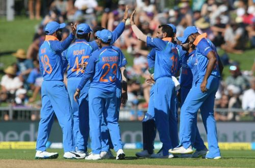 Indian bowlers made the host crumble in the first ODI at Napier.