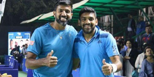 Rohan Bopanna (left) and Divij Sharan