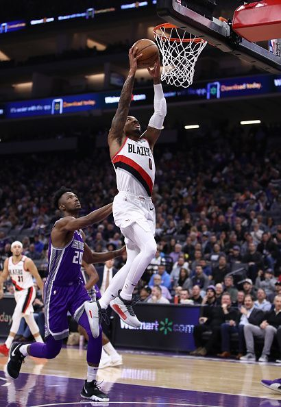 Damian Lillard has been leading the Blazers from the front this season