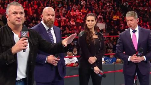 The McMahons and Triple H mention change is coming to the WWE