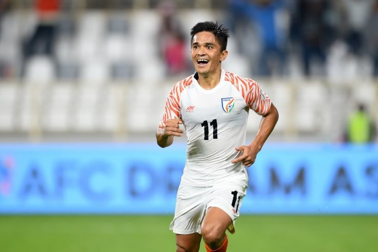 Sunil Chhetri struck his 72nd International goal against Oman